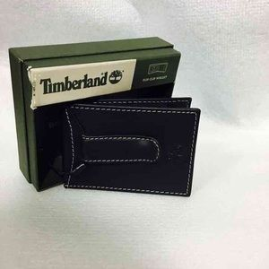 Timberland Flip Clip Mens Leather Wallet Black